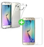 Stuff Certified® Samsung Galaxy S6 Edge Transparant TPU Hoesje + Screen Protector Tempered Glass