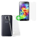 Stuff Certified® Samsung Galaxy S5 Transparant TPU Hoesje + Screen Protector Tempered Glass