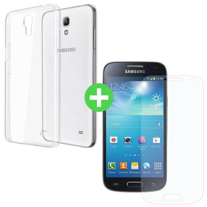 Samsung Galaxy S4 Transparentes TPU-Gehäuse + Displayschutzfolie aus gehärtetem Glas