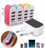 Stuff Certified® 5-Pack Triple (3x) USB Port iPhone/Android Muur Oplader Wallcharger AC Thuis