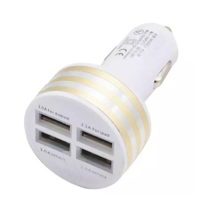 Chargeur de voiture / chargeur de voiture à port USB Quad 4x haute vitesse 5V - 4.1A or