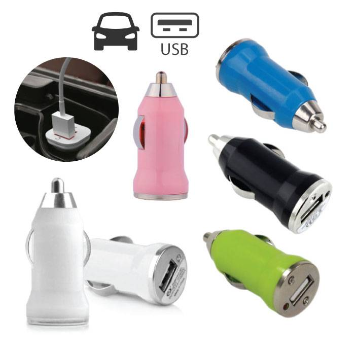 iPhone / iPad / iPod AAA + Chargeur allume-cigare USB - Charge rapide - 5 couleurs