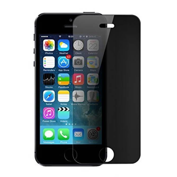 iPhone 5S Privacy Screen Protector Tempered Glass Film Gehard Glas Glazen