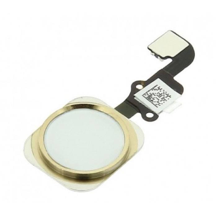 Pour Apple iPhone 6/6 Plus - Assemblage du bouton d'accueil A + avec câble flexible doré