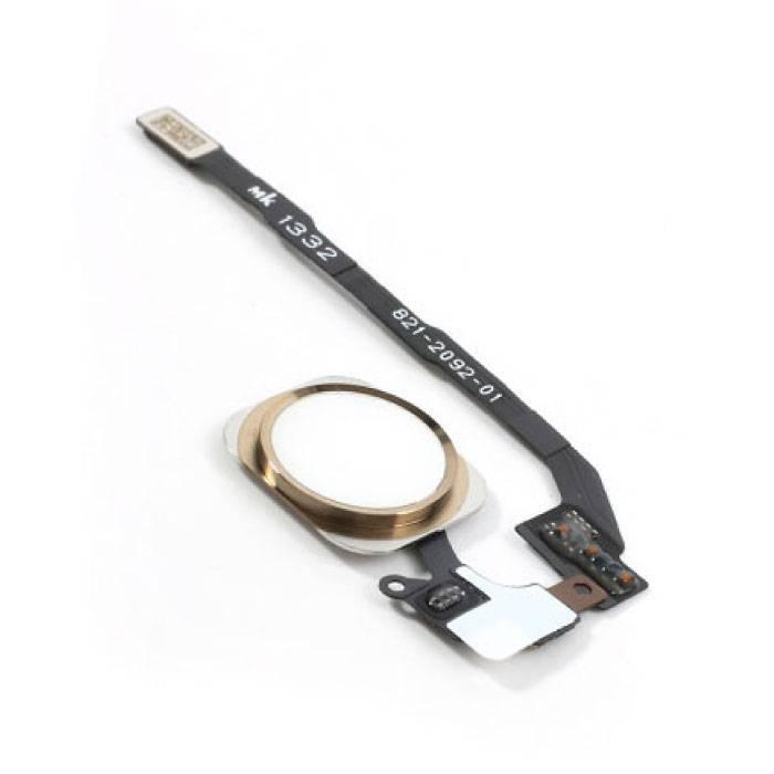Pour Apple iPhone 5S - Ensemble bouton d'accueil AAA + avec câble flexible doré