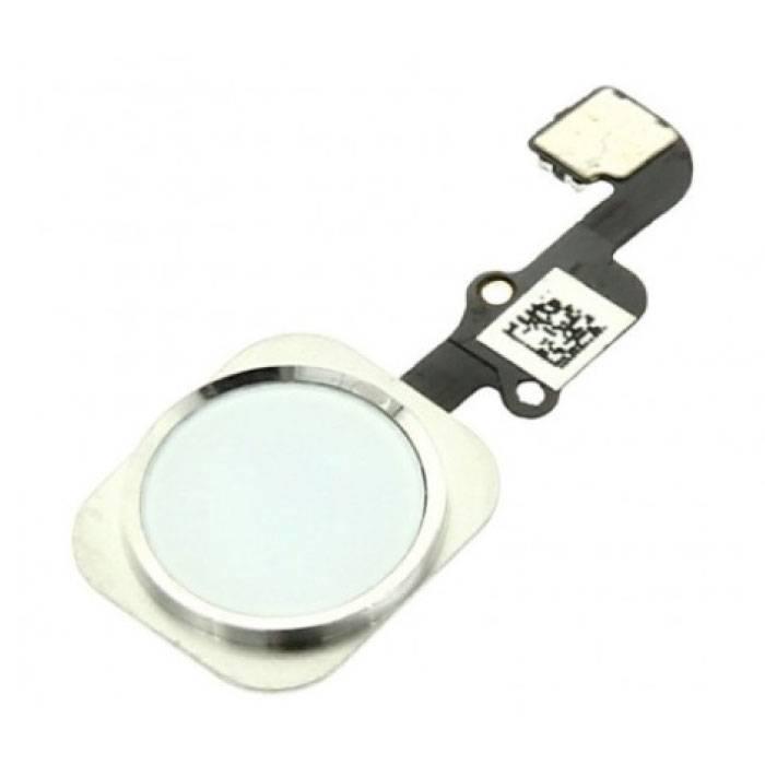 Pour Apple iPhone 6/6 Plus - Ensemble bouton d'accueil AAA + avec câble flexible blanc