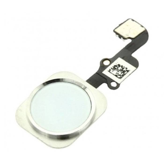 Pour Apple iPhone 6S / 6S Plus - Ensemble bouton A + Home avec câble flexible blanc