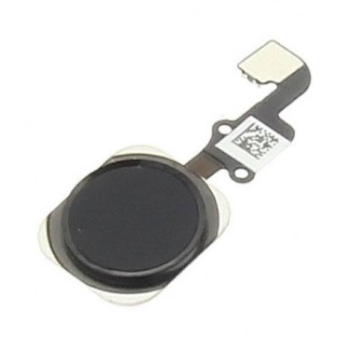Pour Apple iPhone 6S / 6S Plus - Ensemble bouton d'accueil AAA + avec câble flexible noir