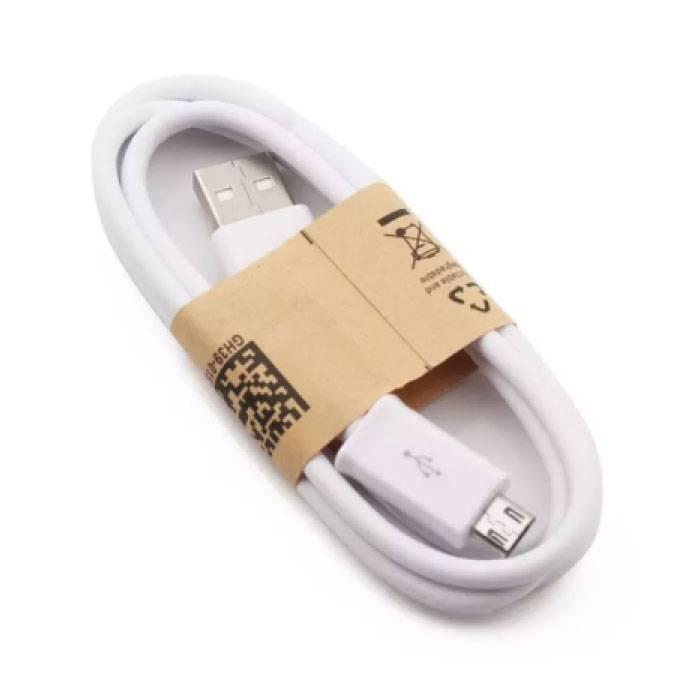 USB 2.0 - Câble de chargement Micro-USB Câble de données de chargeur de données Android 1 mètre blanc
