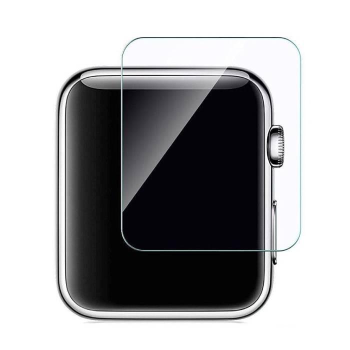Protecteur d'écran transparent en verre trempé de 42 mm pour iWatch Series 1/2/3