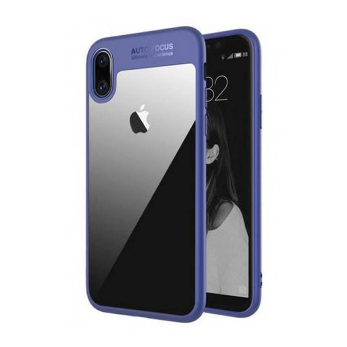 iPhone XS - Car Focus Armor Case Cover Cas Silicone TPU Case Blue