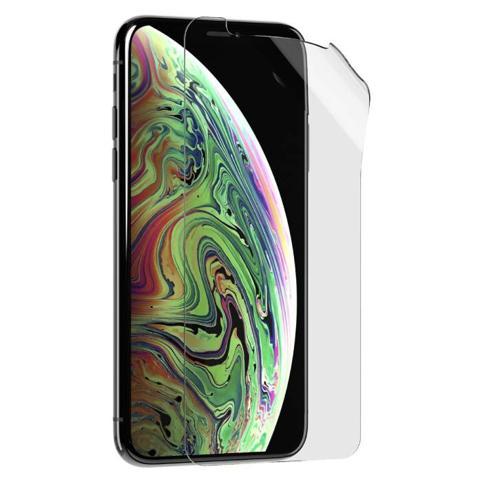 Lot de 2 films de protection d'écran en film d'aluminium pour iPhone XS Strong