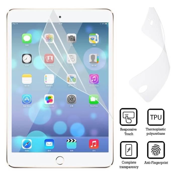 Paquet de 3 films de protection d'écran en aluminium avec film de protection en TPU souple pour iPad Mini 4