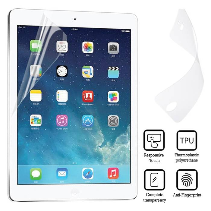 "5-Pack Screen Protector iPad Air 1/2 & iPad Pro 9.7 ""Soft TPU Foil Foil PET Film"