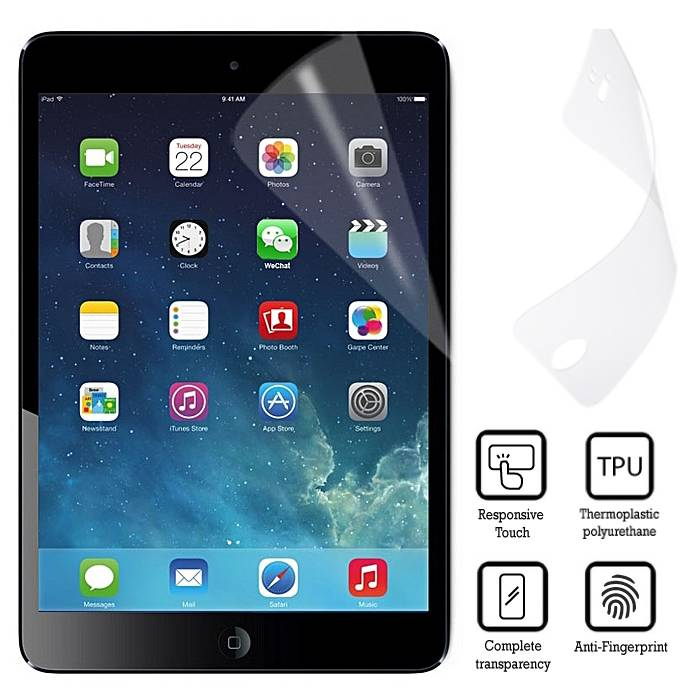 Emballage de 10 films de protection d'écran pour iPad Mini 1/2/3 Soft TPU Foil Foil PET