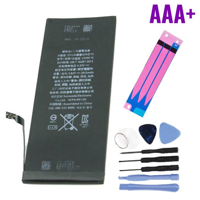 iPhone 6 Battery Repair Kit (+ Tools & Adhesive Sticker) - AAA + Quality