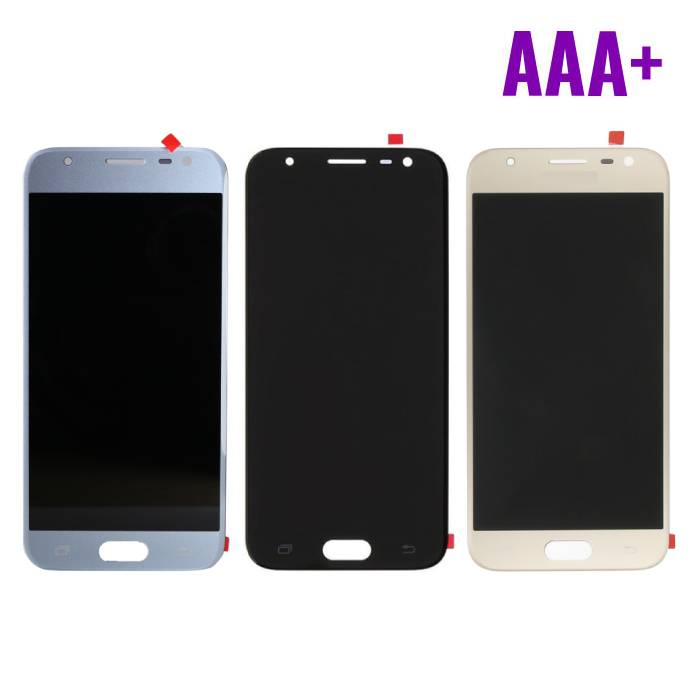 Samsung Galaxy J3 J330 2017 Scherm (Touchscreen + LCD + Onderdelen) AAA+ Kwaliteit - Zwart/Lichtblauw/Goud