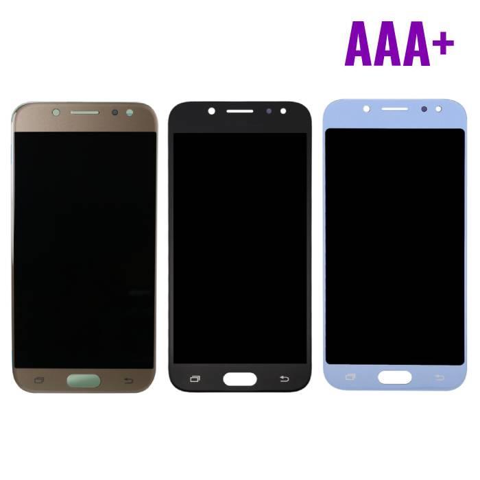 Samsung Galaxy J5 J530 2017 Scherm (Touchscreen + AMOLED + Onderdelen) AAA+ Kwaliteit - Zwart/Lichtblauw/Goud