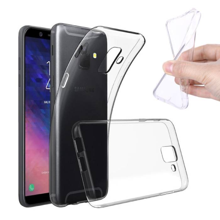 Transparant Clear Case Cover Silicone TPU Hoesje Samsung Galaxy A6 2018