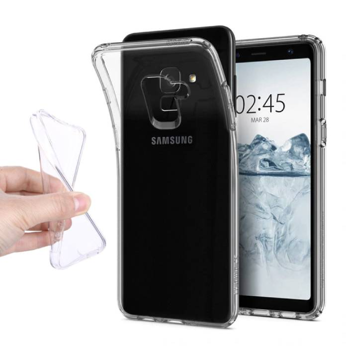 Transparant Clear Case Cover Silicone TPU Hoesje Samsung Galaxy A8 2018