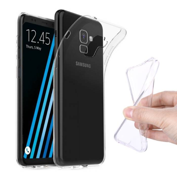 Coque en TPU transparente en silicone avec coque transparente pour Samsung Galaxy A7 2018
