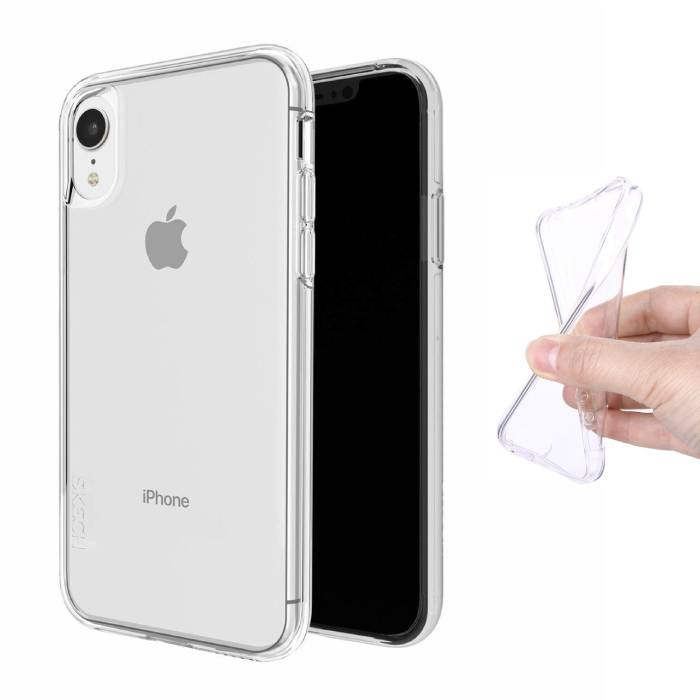 Transparent Clear Case Cover Silicone TPU Case iPhone XR