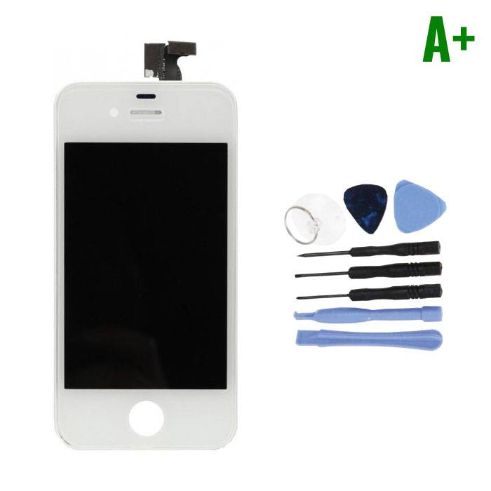 Écran iPhone 4S (Écran tactile + LCD + Pièces) A + Qualité - Blanc + Outils
