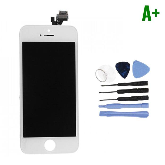 iPhone 5 Screen (Touchscreen + LCD + Parts) A + Quality - White + Tools