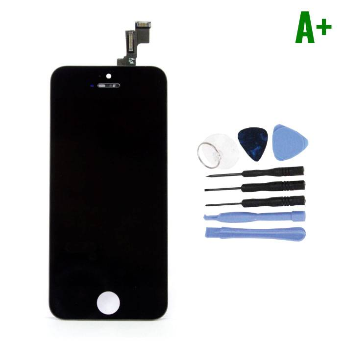 iPhone 5C Screen (Touchscreen + LCD + Parts) A + Quality - Black + Tools