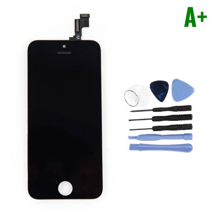 iPhone SE / 5S Screen (Touchscreen + LCD + Parts) A + Quality - Black + Tools