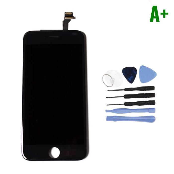 """iPhone 6 4.7"""" Scherm (Touchscreen + LCD + Onderdelen) A+ Kwaliteit - Zwart + Gereedschap"""