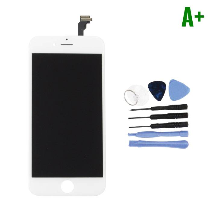 """iPhone 6 4.7 """"Screen (Touchscreen + LCD + Parts) A + Quality - White + Tools"""