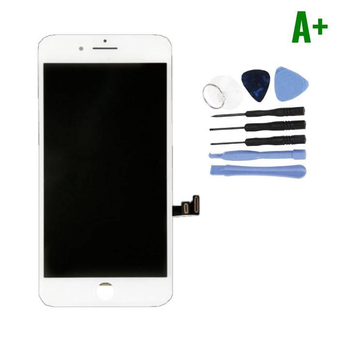 cran iPhone 8 Plus (cran tactile + LCD + PiŠces) A + Qualit' - Blanc + Outils