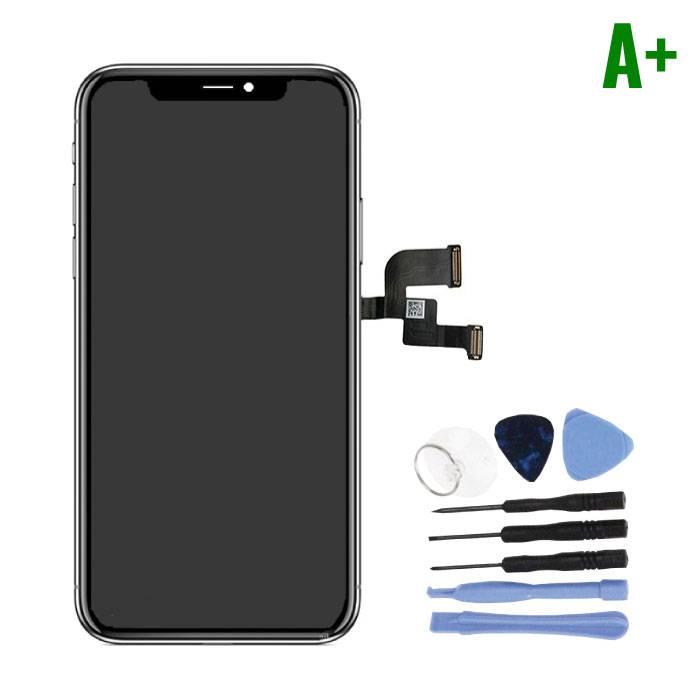 Écran iPhone X (Écran tactile + OLED + Pièces) A + Qualité - Noir + Outils