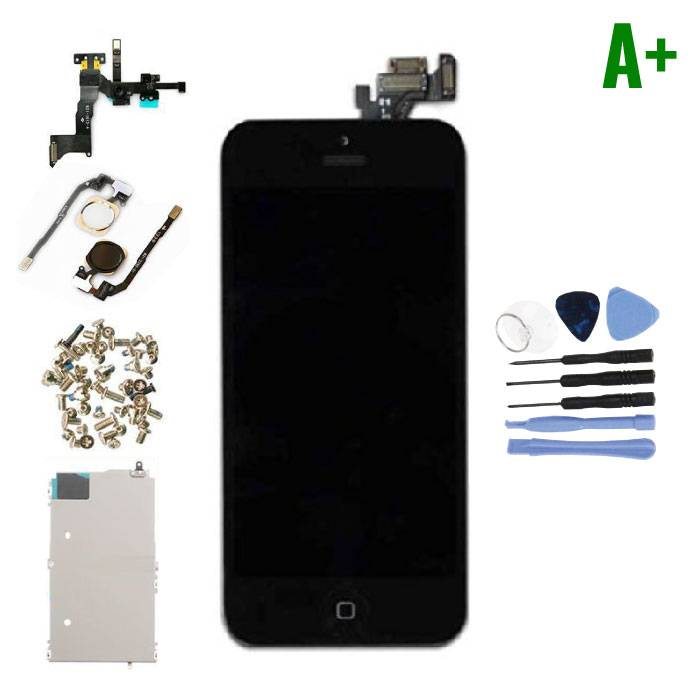iPhone 5 Voorgemonteerd Scherm (Touchscreen + LCD + Onderdelen) A+ Kwaliteit - Zwart + Gereedschap