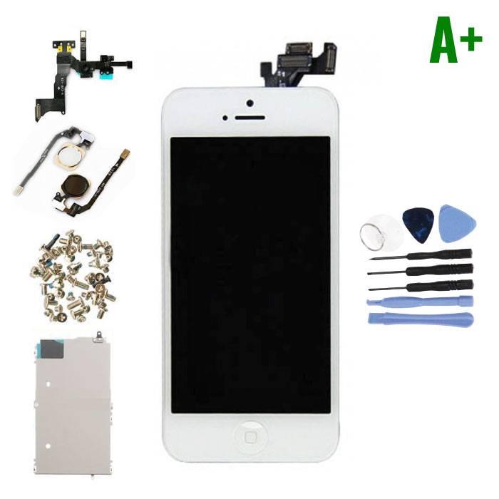 iPhone 5 Voorgemonteerd Scherm (Touchscreen + LCD + Onderdelen) A+ Kwaliteit - Wit + Gereedschap