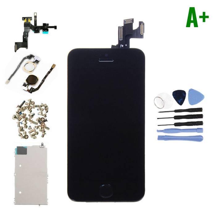 Ecran pré-assemblé pour iPhone 5S (écran tactile + LCD + pièces) A + Qualité - Noir + Outils