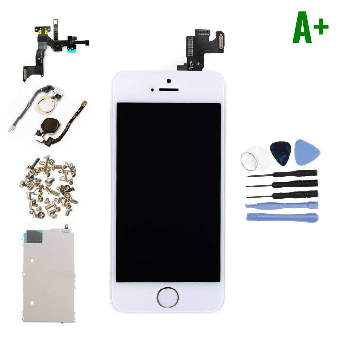 iPhone 5S Pre-assembled Screen (Touchscreen + LCD + Parts) A + Quality - White + Tools