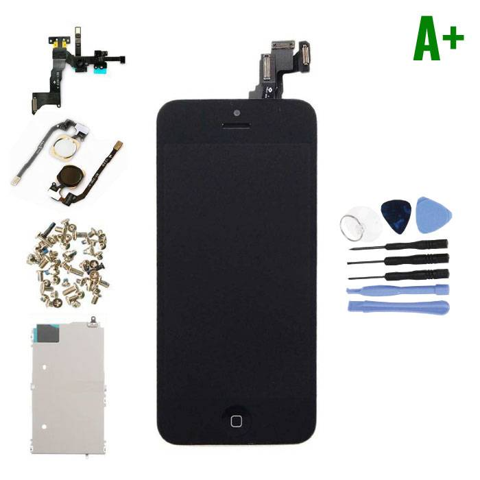 iPhone 5C Pre-assembled Screen (Touchscreen + LCD + Parts) A + Quality - Black + Tools