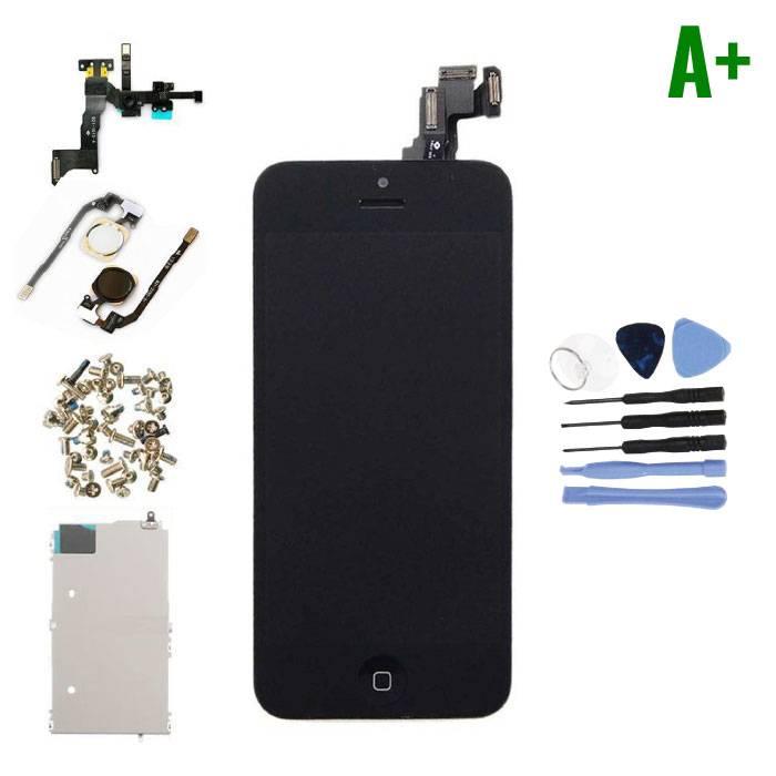 iPhone 5C Voorgemonteerd Scherm (Touchscreen + LCD + Onderdelen) A+ Kwaliteit - Zwart + Gereedschap