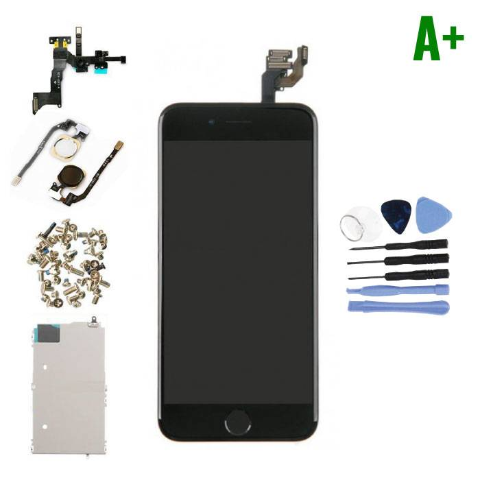 """iPhone 6 4.7"""" Voorgemonteerd Scherm (Touchscreen + LCD + Onderdelen) A+ Kwaliteit - Zwart + Gereedschap"""