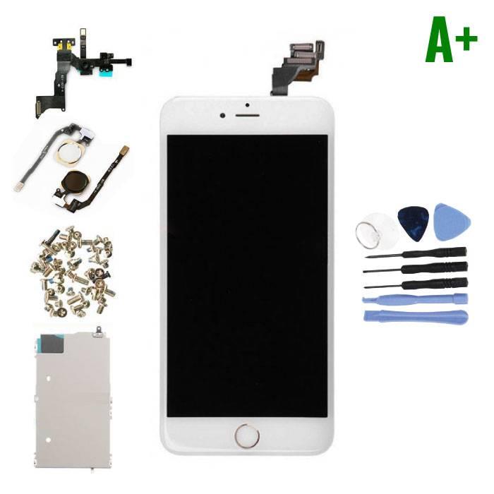 iPhone 6 Plus Voorgemonteerd Scherm (Touchscreen + LCD + Onderdelen) A+ Kwaliteit - Wit + Gereedschap
