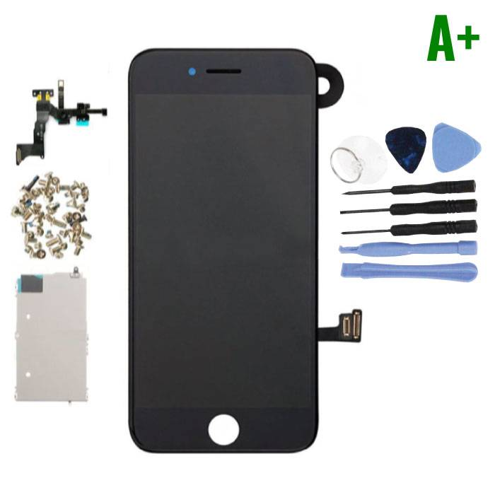 iPhone 7 Voorgemonteerd Scherm (Touchscreen + LCD + Onderdelen) A+ Kwaliteit - Zwart + Gereedschap