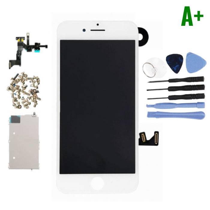 iPhone 7 Plus Voorgemonteerd Scherm (Touchscreen + LCD + Onderdelen) A+ Kwaliteit - Wit + Gereedschap