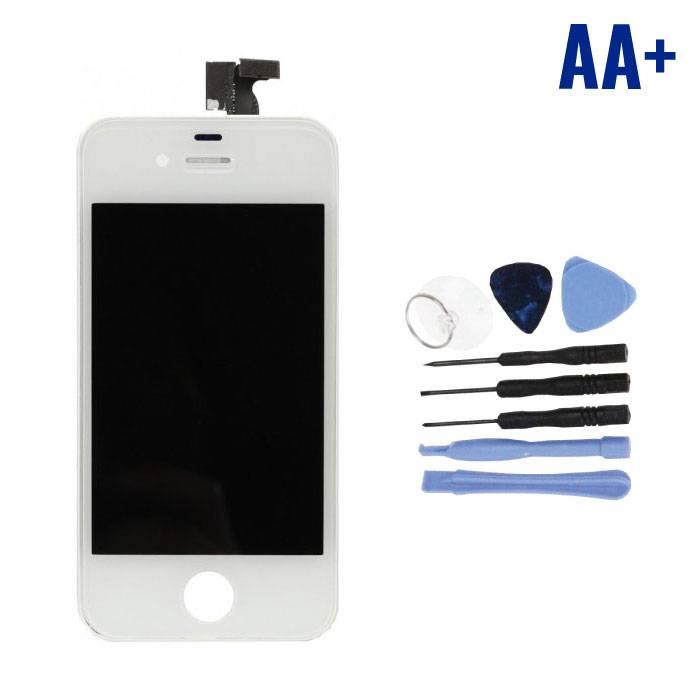 Écran iPhone 4 (Écran tactile + LCD + Pièces) AA + Qualité - Blanc + Outils