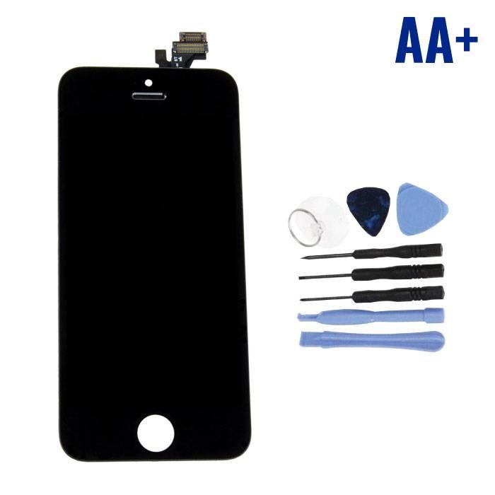 Écran iPhone 5 (Écran tactile + LCD + Pièces) AA + Qualité - Noir + Outils