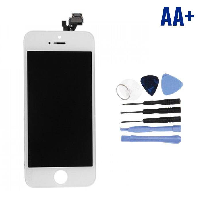 iPhone 5 Screen (Touchscreen + LCD + Parts) AA + Quality - White + Tools