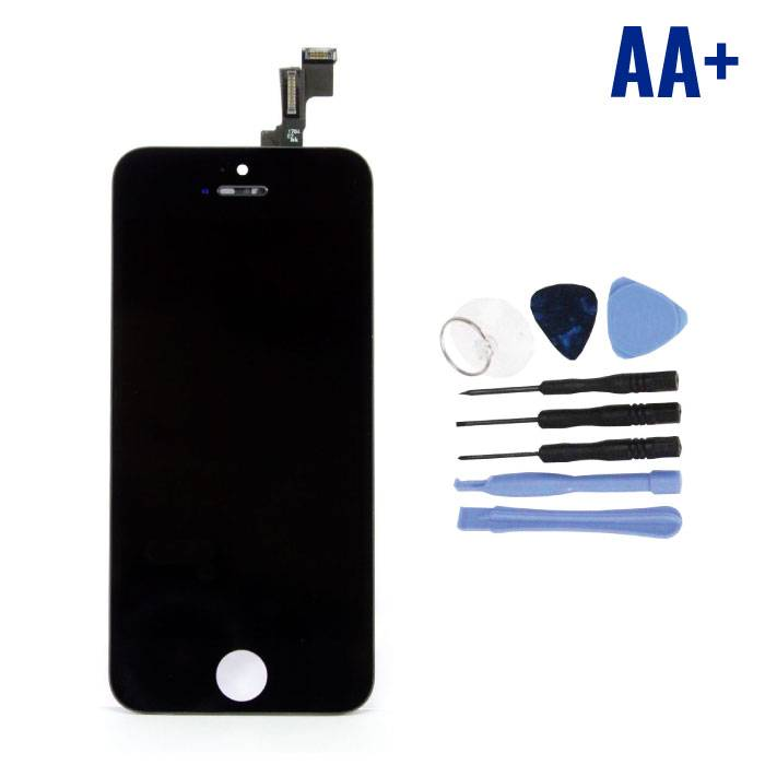 iPhone 5C Screen (Touchscreen + LCD + Parts) AA + Quality - Black + Tools