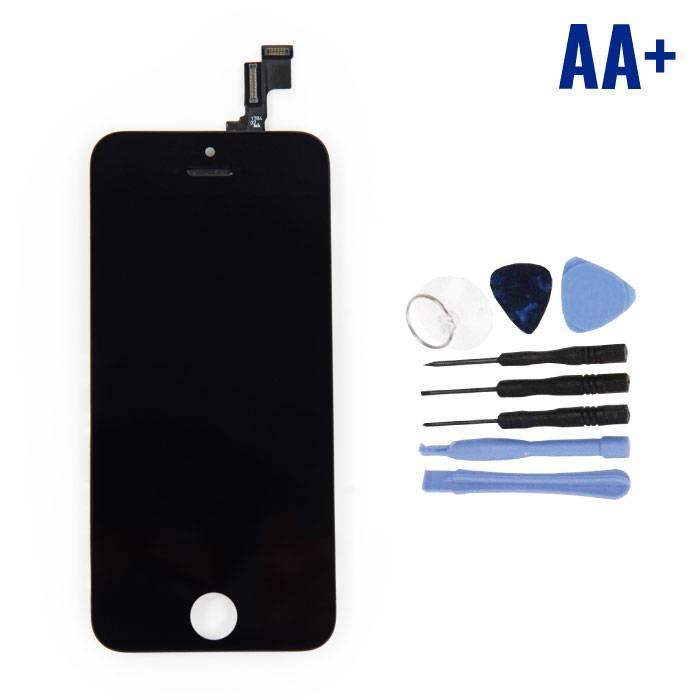 Écran iPhone SE / 5S (Écran tactile + LCD + Pièces) AA + Qualité - Noir + Outils