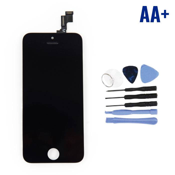 iPhone SE/5S Scherm (Touchscreen + LCD + Onderdelen) AA+ Kwaliteit - Zwart + Gereedschap